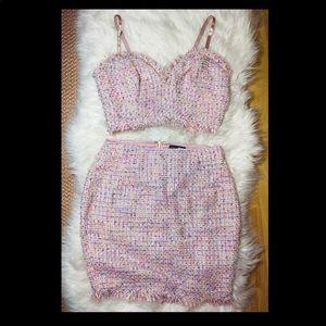 Gorgeous Tweed Pink Set